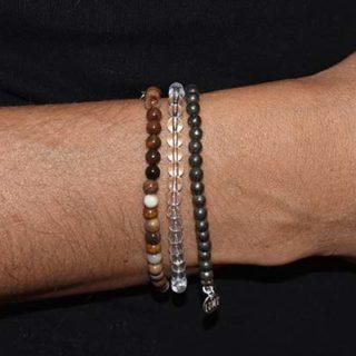 pyrite argent bracelet