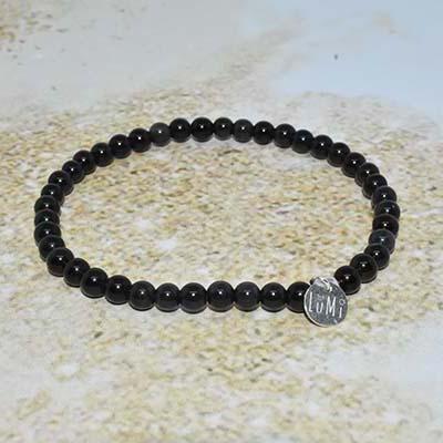 obsidienne bracelet lumi