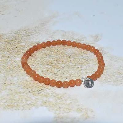 aventurine orange bracelet lumi