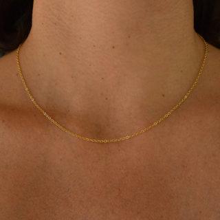 chaîne plaqué or lumi