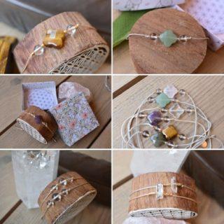 bracelet amulette lumi cristal de roche consacré