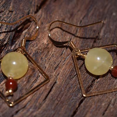 boucles d'oreilles lumi plaqué or