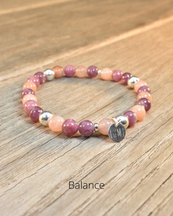bracelet balance pierres naturelles