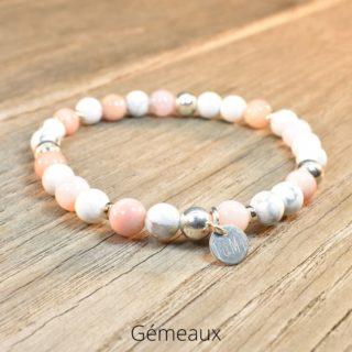 bracelet gémeaux en pierres