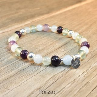 bracelet poisson en pierres