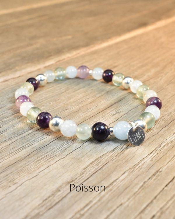 bracelet poisson en pierres