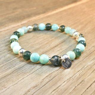 vierge bracelet pierres