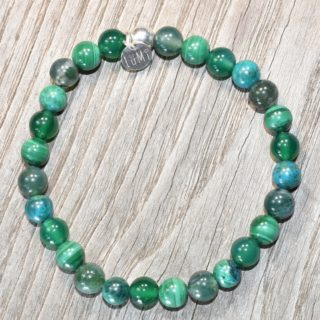 bracelet nature malachite agate