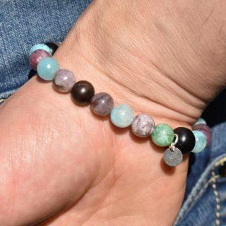 bracelet balance homme pierres naturelles