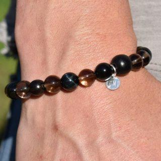 bracelet capricorne homme en pierres
