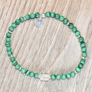 malachite bracelet cristal de roche lumi