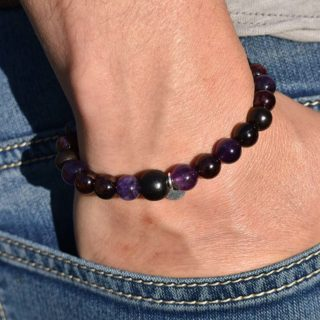 verseau bracelet homme pierres naturelles