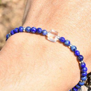 lapis lazuli 4 mm bracelet pierres