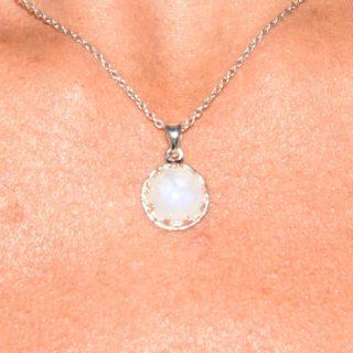 pendentif pierre de lune argent 925