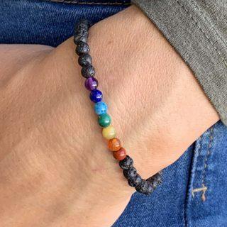 bracelet 7 chakras 4mm femme